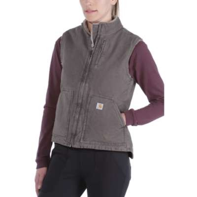 Carhartt Workwear Sandstone Mock Neck Vest Woman