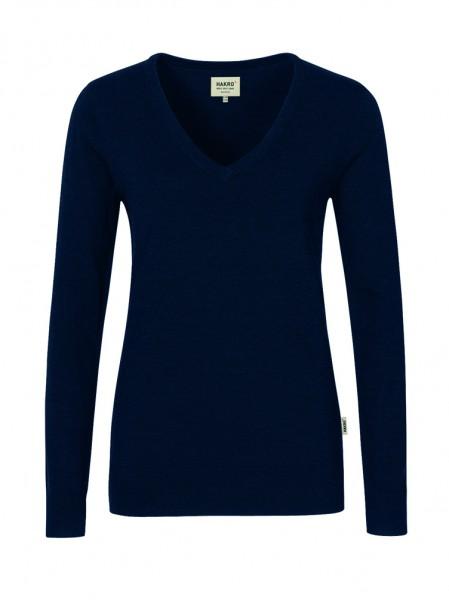 Hakro Women-V-Pullover Merino Wool